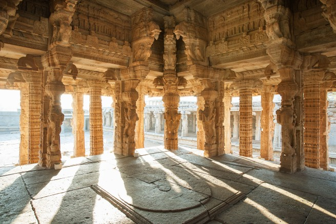 John Gollings. 'Vittala Dance Mandapa interior, Hampi, India' 2005