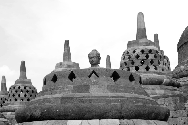 John Gollings. 'Buddha detail, Borobudur, Java, Indonesia' 2011