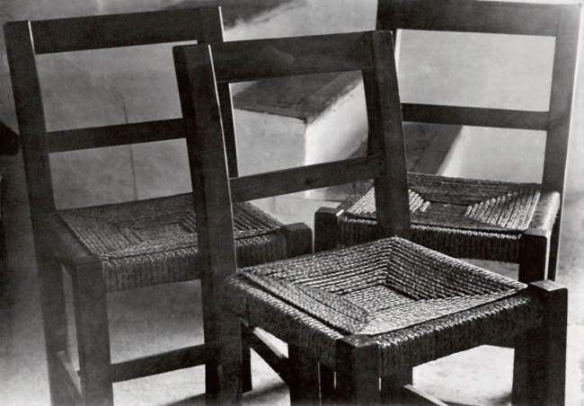 Raoul Hausmann (1886-1971) 'Three chairs' 1934