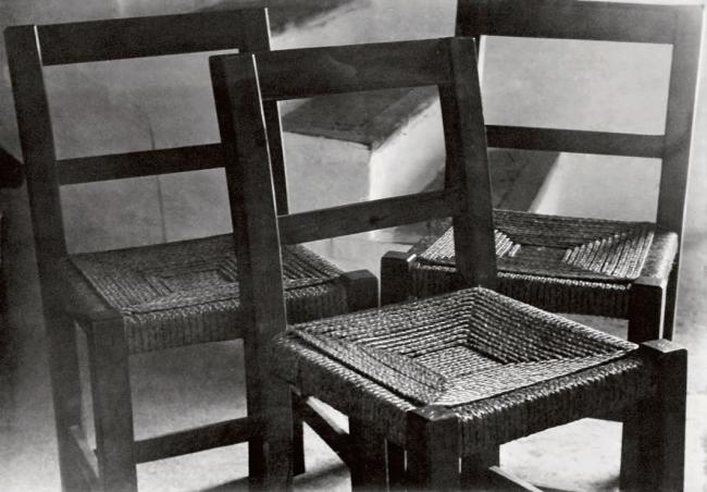 Raoul Hausmann (1886-1971) 'Three chairs' 1934