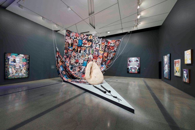 Installation view of 'Del Kathryn Barton: The Highway is a Disco' at the Ian Potter Centre: NGV Australia