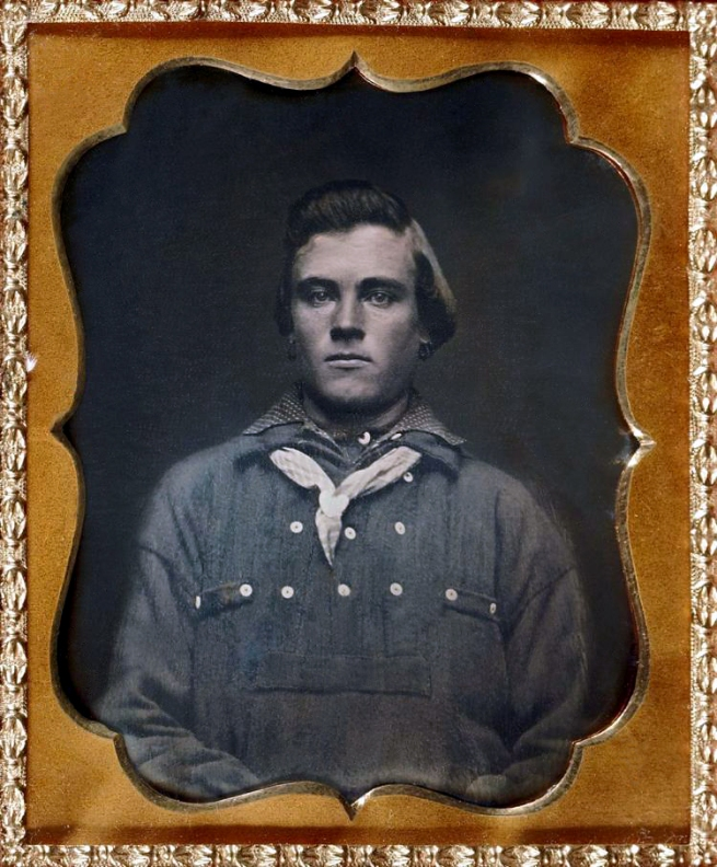Unknown photographer (American) 'Untitled [Man, possibly a sailor, wearing hoop earrings]' Nd