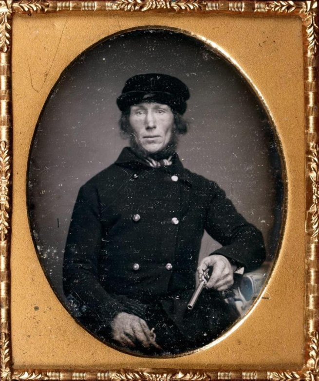 Unknown photographer (American) Untitled [Man with pistols] c. 1850-60s