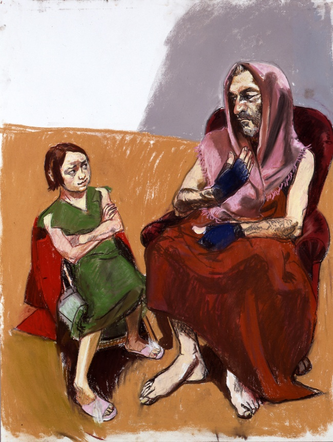 Paula Rego. 'The wolf chats up Red Riding Hood' 2003