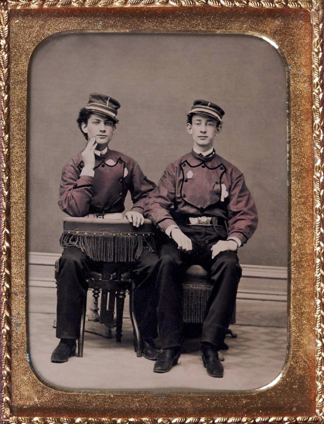 Unknown photographer (American) 'Untitled [Two firemen]' c. 1850-60s