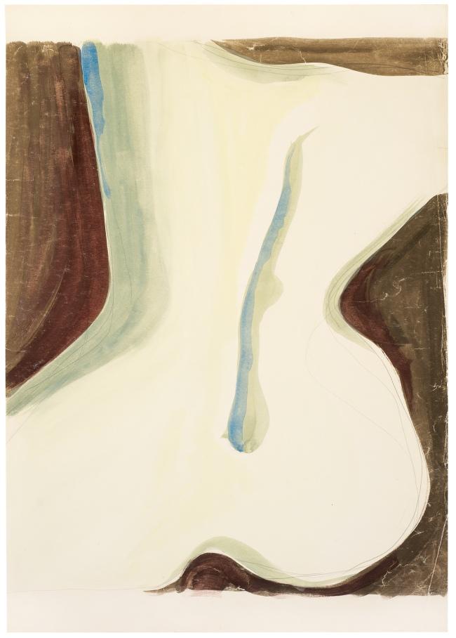 Zbigniew Dłubak(1921-2005) Sketch for the series 'Ammonites' 1959-1961