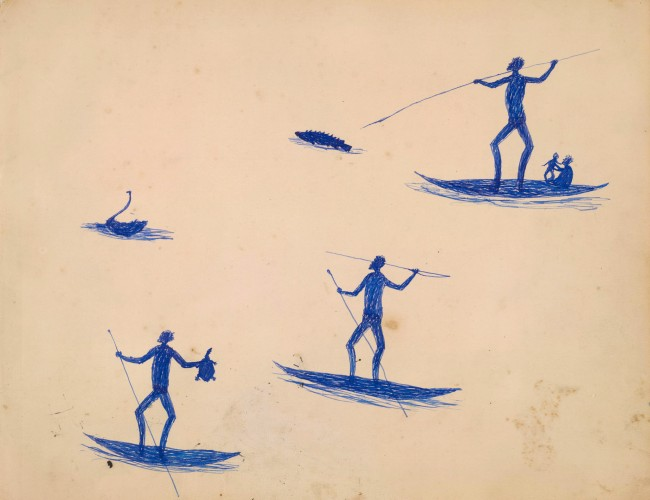 Tommy McRae (Kwat Kwat/Wiradjuri) (c. 1836-1901) Page from 'Sketchbook' c. 1891 Sketchboo