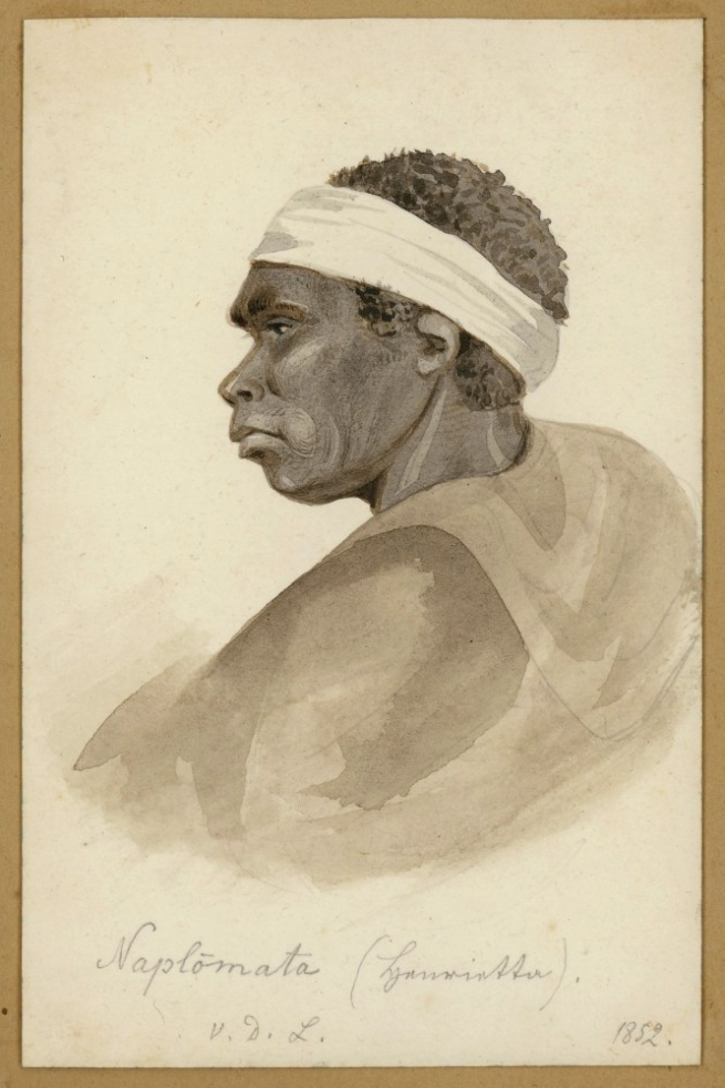 Ludwig Becker (Germany 1808 - Australia 1861, Australia from 1851) 'Aborigines of Tasmania: Naplomata, grandmother' 1852
