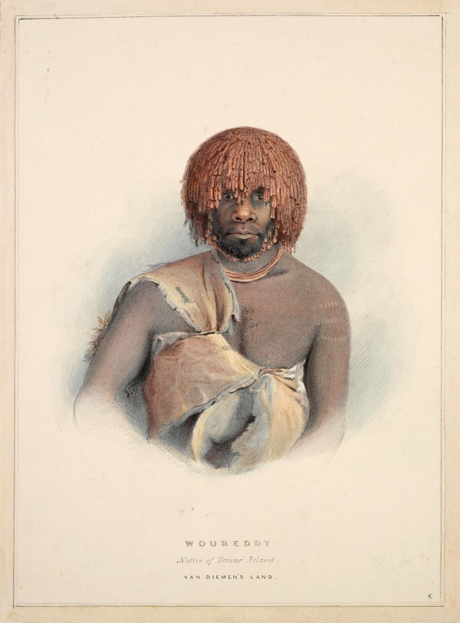 Thomas Bock (England 1790 - Australia 1855, Australia from 1824) 'Woureddy [Wurati]: Native of Bruné Island, Van Diemen's Land' c. 1837