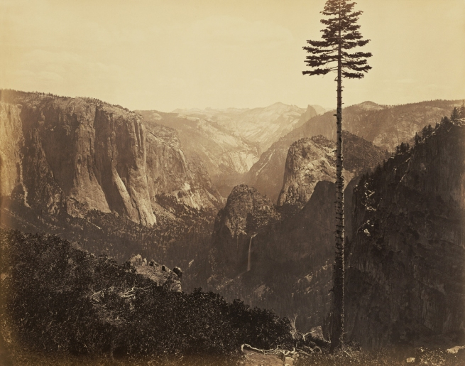 "Carleton Watkins (U.S.A., 1829-1916) 'Yosemite Valley from the ""Best General View""' 1866"
