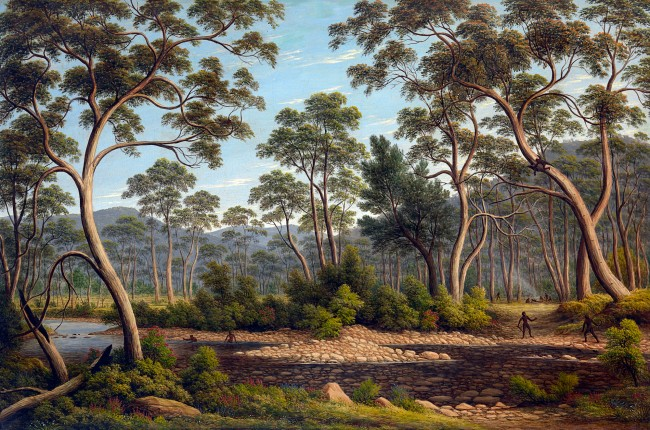 John Glover (England 1767 - Australia 1849, Australia from 1831) 'The River Nile, Van Diemen's Land, from Mr Glover's farm' 1837