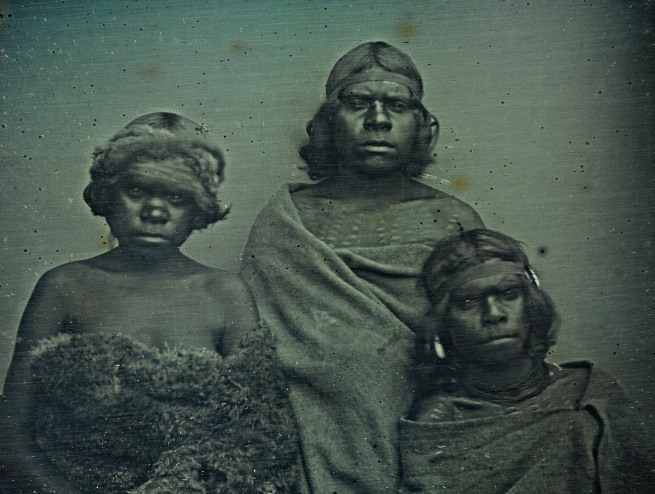 Douglas T. Kilburn. 'No title (Group of Koori women)' 1847 (detail)