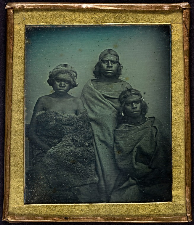 Douglas T. Kilburn. 'No title (Group of Koori women)' 1847