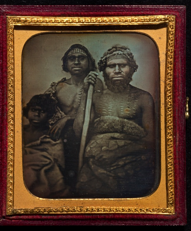 Douglas T. Kilburn. 'No title (Group of Koori men)' c. 1847