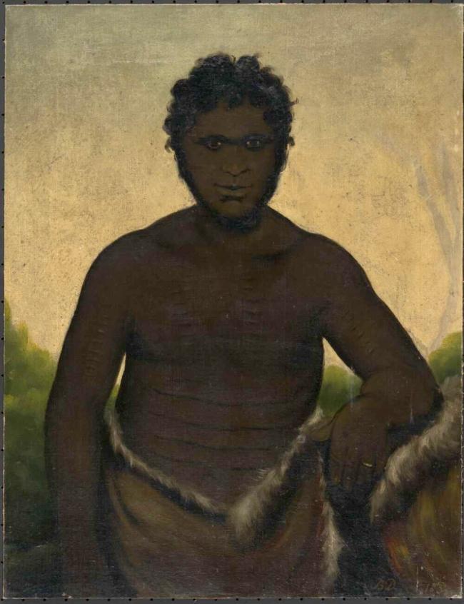 Benjamin Duterrau (England 1761 - Australia 1851, Australia from 1832) 'Tasmanian Aboriginal' 1837