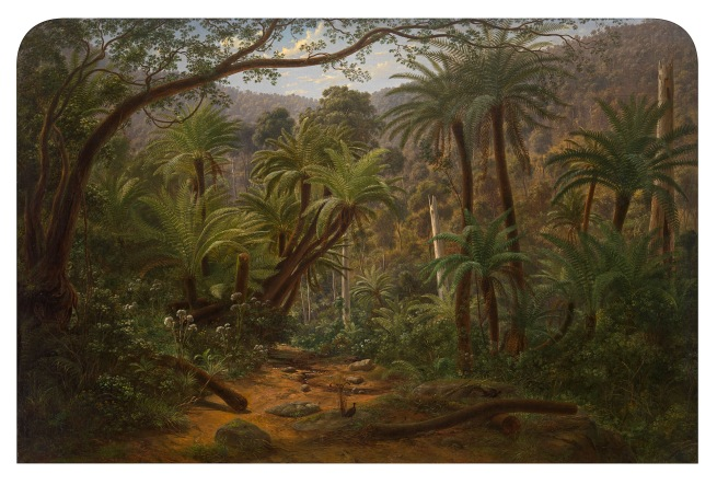 Eugene von Guérard. 'Ferntree Gully in the Dandenong Ranges' 1857