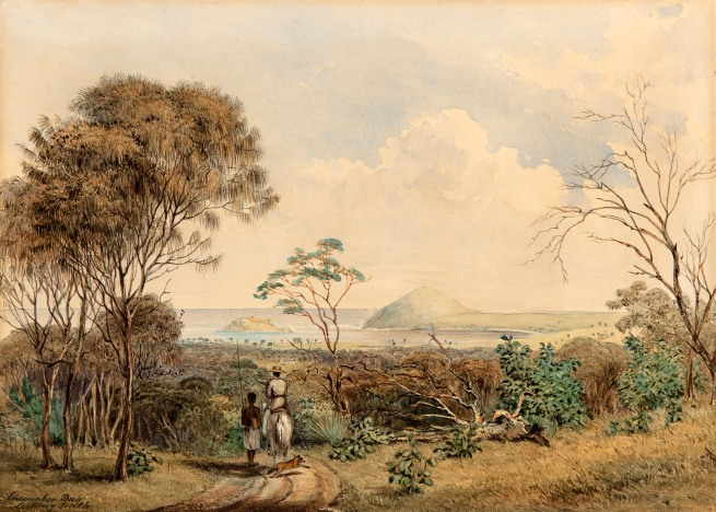 George French Angas. 'Encounter Bay looking south' 1844