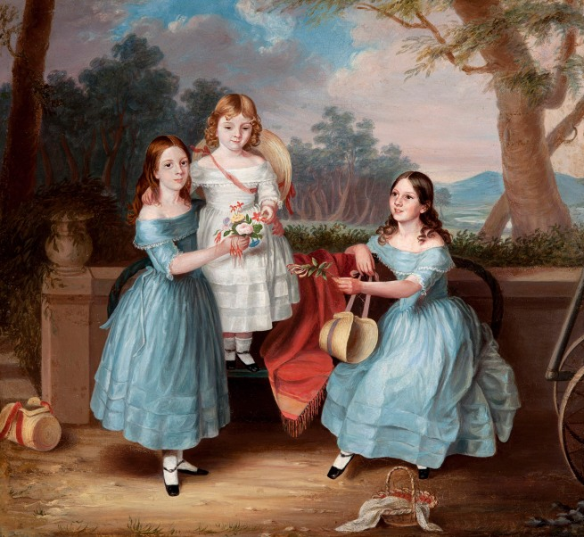 Martha Berkeley (England 1813 - Australia 1899, Australia from 1837) 'Georgina, Emily and Augusta Rose' c. 1848