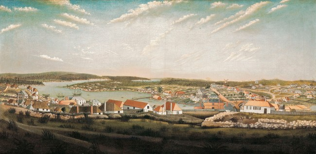 Unknown artist. 'View of the town of Sydney in the colony of New South Wales' c. 1799