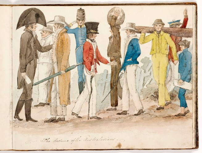 Edward Charles Close (Bengal (Bangladesh) 1790 - Australia 1866, Australia from 1817) 'The costume of the Australasians' c. 1817