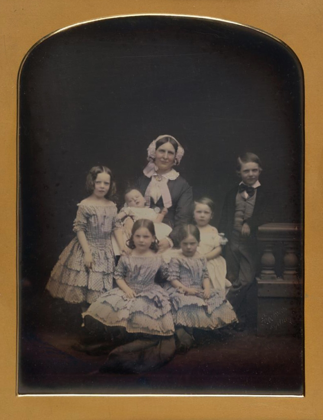 Freeman Brothers Studio. 'No title (Mother and children)' 1855-56