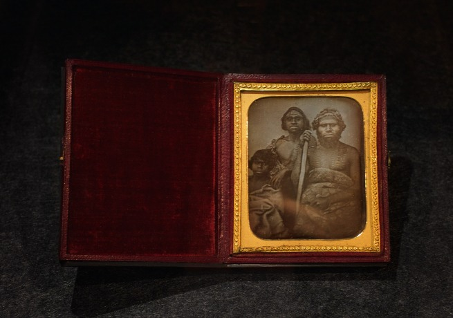 Douglas T. Kilburn (attributed to) 'No title (Group of Koori men)' c. 1847 Daguerreotype