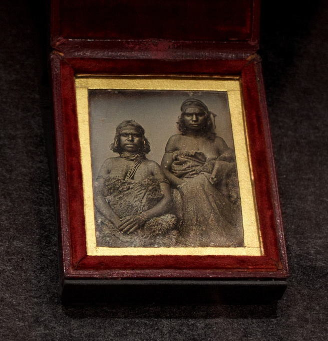 Douglas T. Kilburn (attributed to) 'No title (Two Koori women)' c. 1847 Daguerreotype