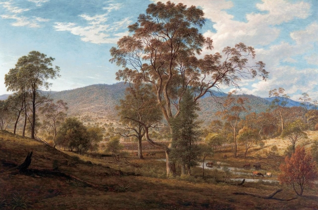 John Glover. 'View of Mills Plains, Van Diemen's Land' 1833