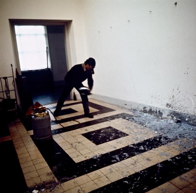Balthasar Burkhard (1944-2010) 'Untitled (Richard Serra, Splash Piece), Berne' 1969