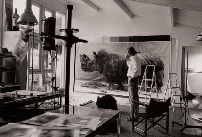 Balthasar Burkhard (1944-2010) 'Balthasar Burkhard in his studio' 1995