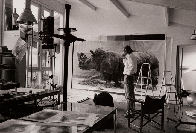 Balthasar Burkhard (1944-2010) 'Balthasar Burkhard in his studio' 1995