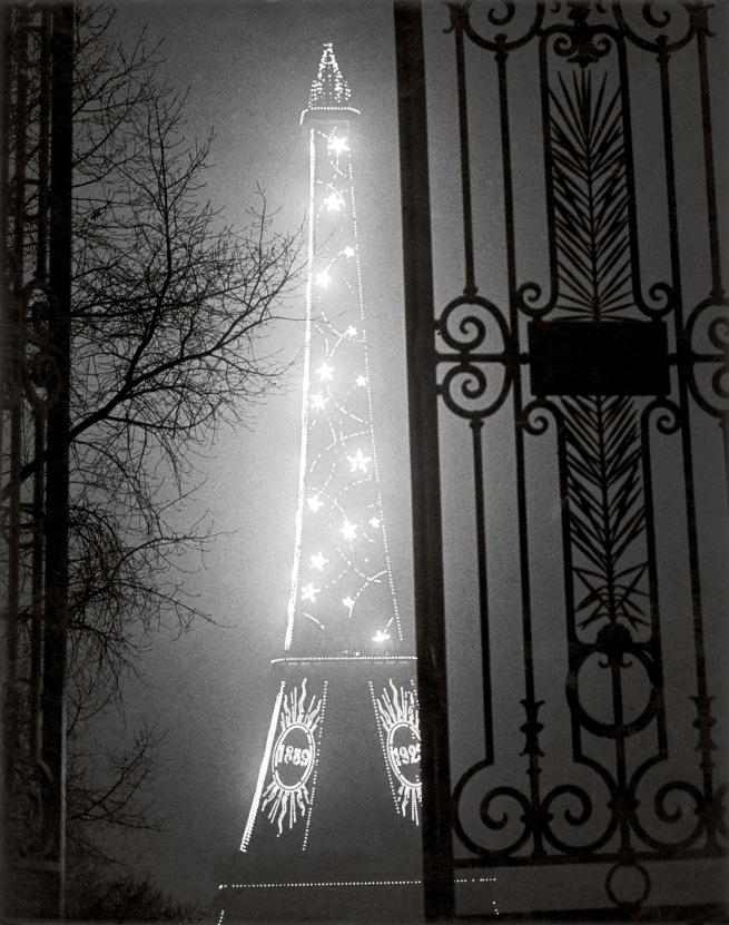 Brassaï(Gyulá Halász, 1899 - 1984) 'The Eiffel Tower seen through the Gate of the Trocadéro' 1930-32