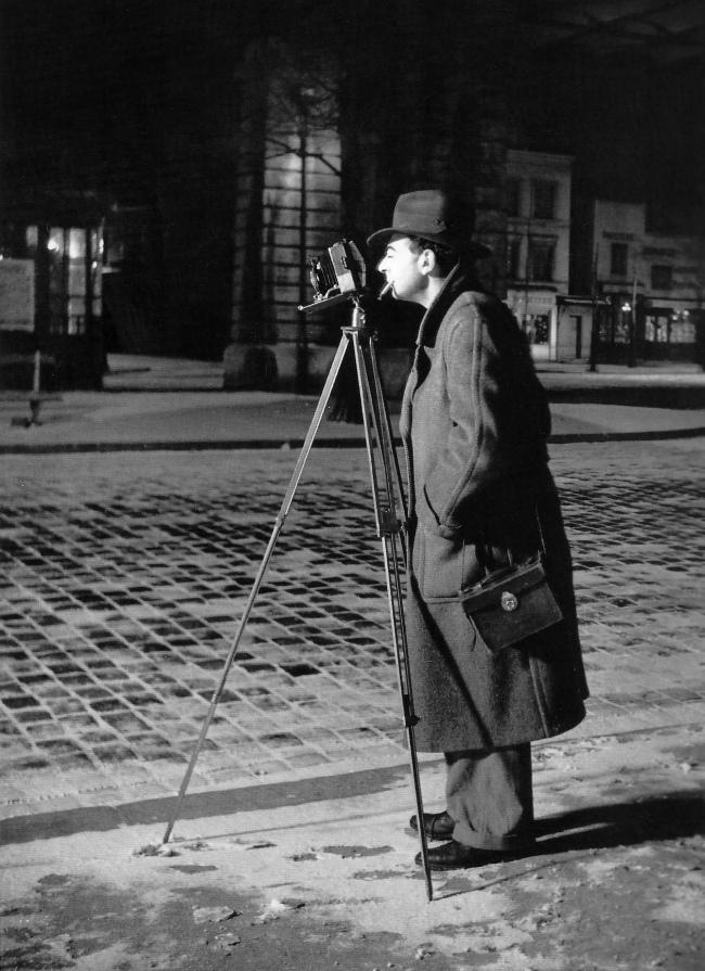 Brassaï(Gyulá Halász, 1899 - 1984) 'Self-portrait, Boulevard Saint-Jacques, Paris 14ème' c. 1931-1932