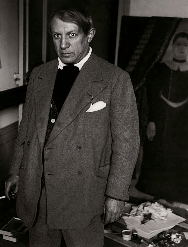 Brassaï(Gyulá Halász, 1899 - 1984) 'Portrait of Picasso in His Studio at 23 rue de La Boëtie, Paris' 1932