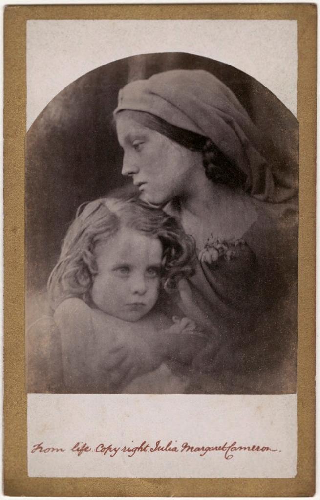 Julia Margaret Cameron (1815-79) ''La Madonna Aspettante' (William Frederick Gould; Mary Ann Hillier)' 1865