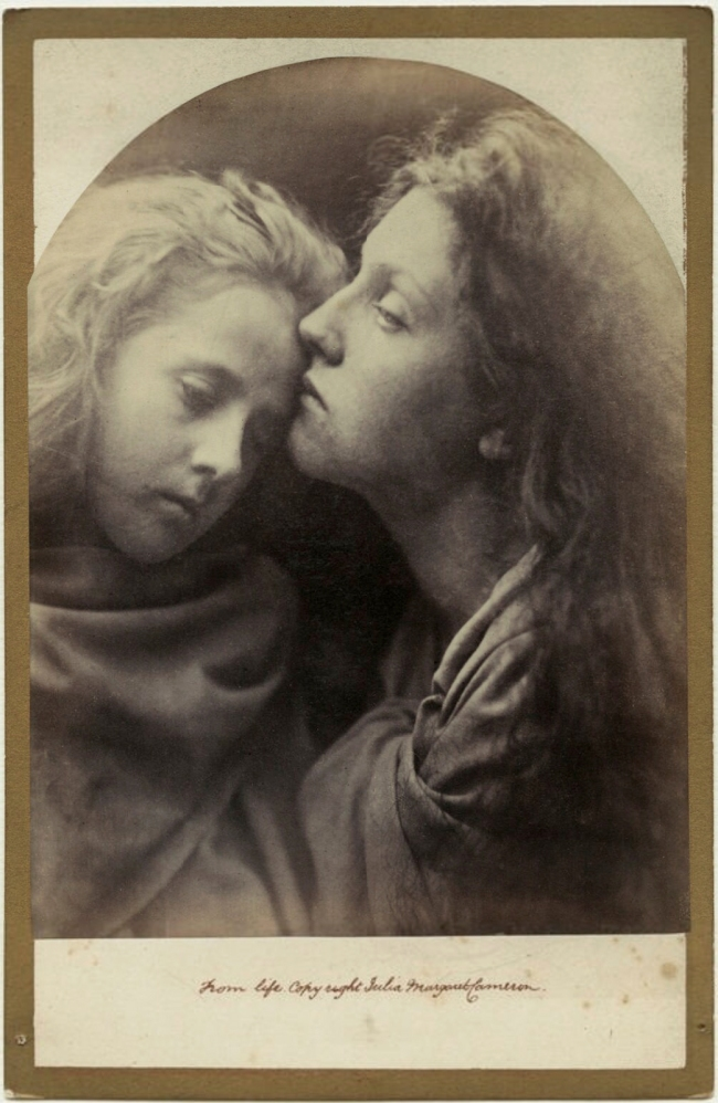 Julia Margaret Cameron (1815-79) ''The Kiss of Peace' (Elizabeth ('Topsy') Keown; Mary Ann Hillier)' 1869