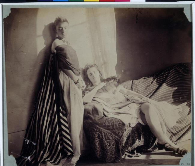 Clementina Hawarden (1822-65) Hawarden. 'Isabella Grace and Clementina Maude, 5 Princes Gardens' c. 1863-4