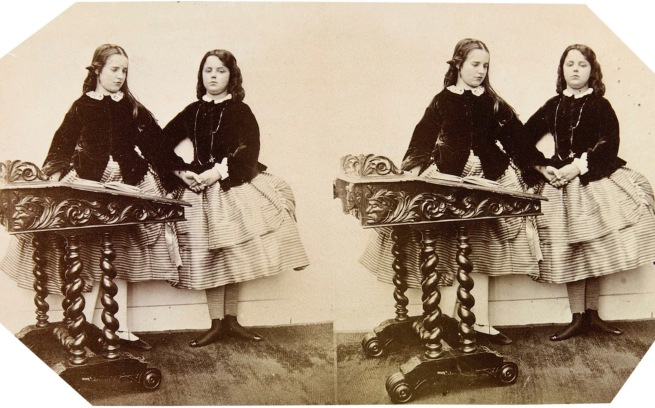 Clementina Hawarden (1822-65) 'Photographic Study (Clementina and Florence Elizabeth Maude)' 1859-61