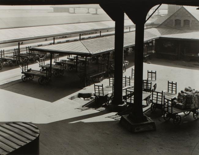 Minor White(American, 1908-1976) 'Untitled (Union Station Loading Platform)' c. 1939