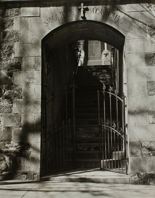 Minor White(American, 1908-1976) 'Untitled (St. Mary's Academy, Third Avenue Entrance)' c. 1939