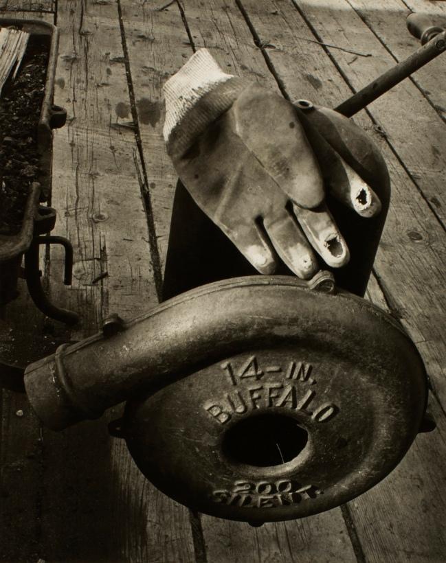 Minor White(American, 1908-1976) 'Hand Forge' c. 1939