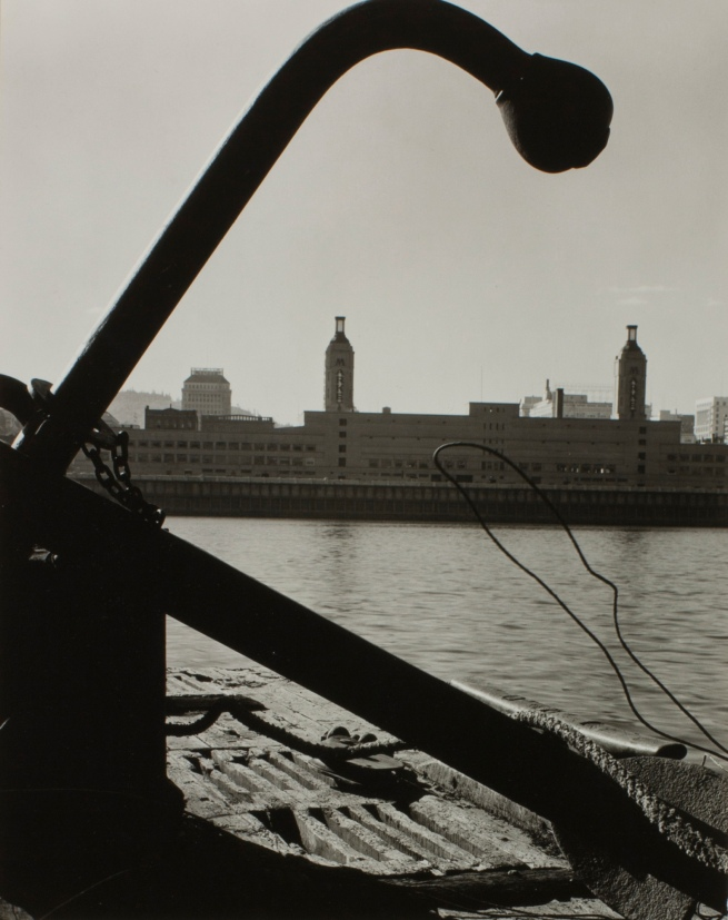 Minor White(American, 1908-1976) 'Untitled (Municipal Market, from a Barge on East Side of the River)' c. 1939