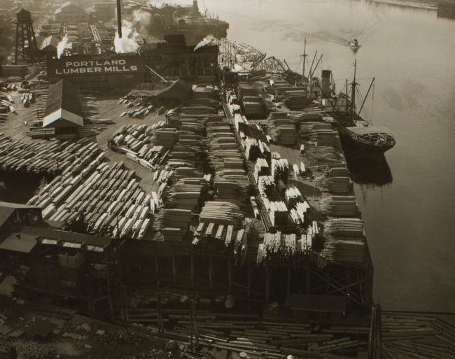 Minor White (American, 1908-1976) 'Untitled (Portland Lumber Mills)' c. 1939