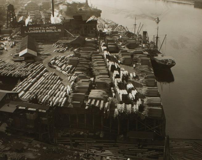Minor White(American, 1908-1976) 'Untitled (Portland Lumber Mills)' c. 1939