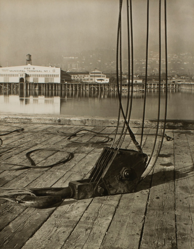 Minor White(American, 1908-1976) 'Untitled (Pier B Municipal Terminal No. 1)' c. 1939