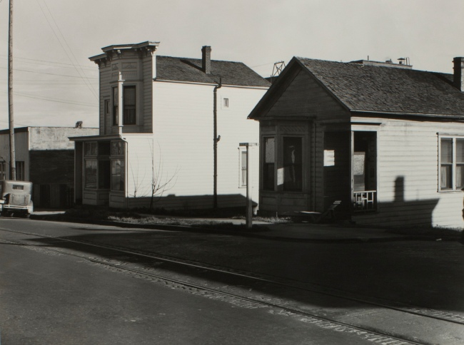 Minor White(American, 1908-1976) 'Untitled (Houses at Hall and First Street)' 1940