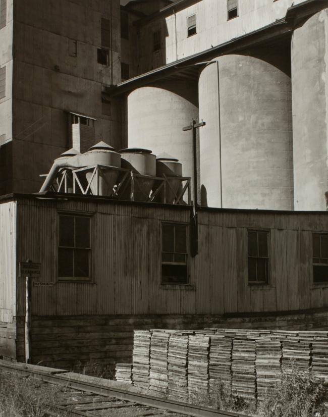 Minor White(American, 1908-1976) 'Grain Tanks' c. 1940