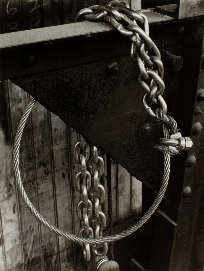 Minor White(American, 1908-1976) 'Design (Cable and Chain)' c. 1940