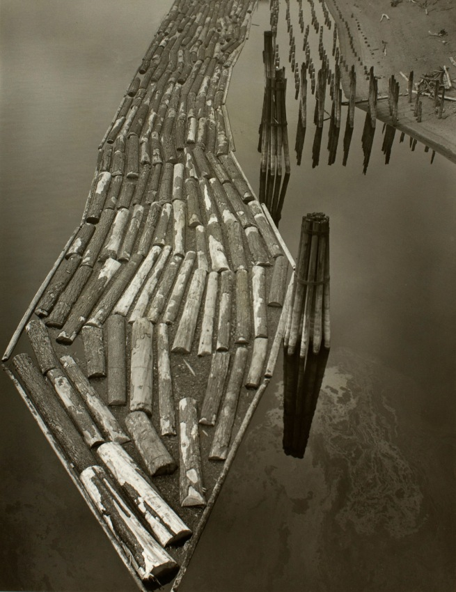 Minor White (American, 1908-1976) 'Log Boom' c. 1940