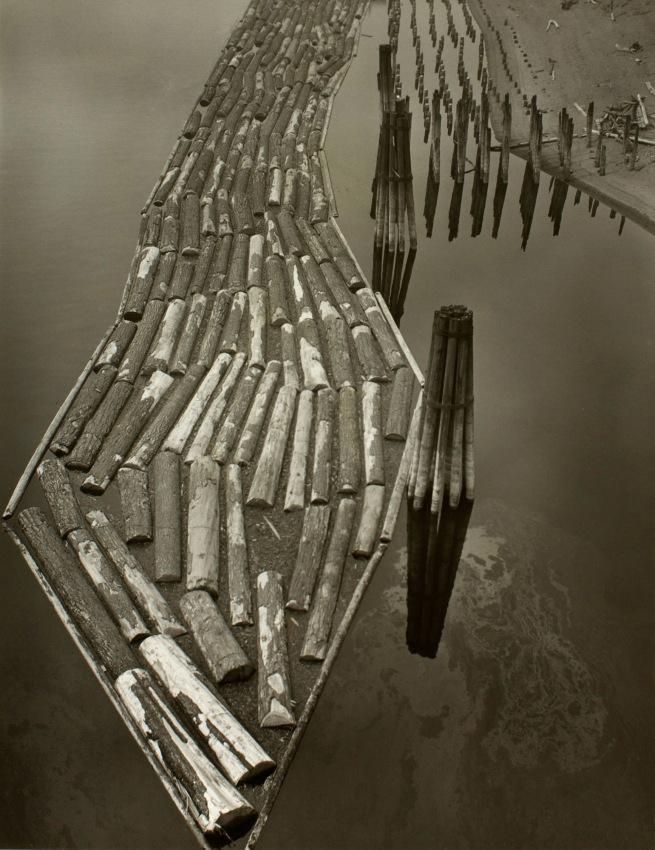 Minor White(American, 1908-1976) 'Log Boom' c. 1940